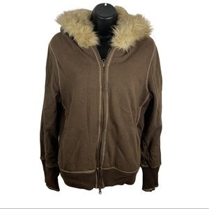 Cambridge dry goods company faux fur jacket